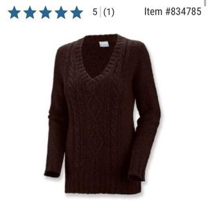 Columbia Cabled Cutie Wool Blend Sweater—Like New!